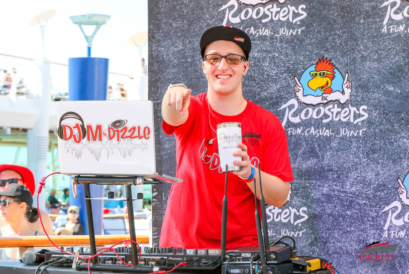 DJ MDizzle performing Live at the Pool Deck on The Buckeye Cruise 4 Cancer 2020