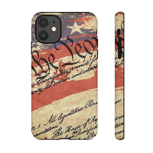 Script Patriotic United States We The People Designer Tough Case