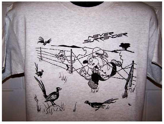 Pheasant Hunting Fence T Shirt