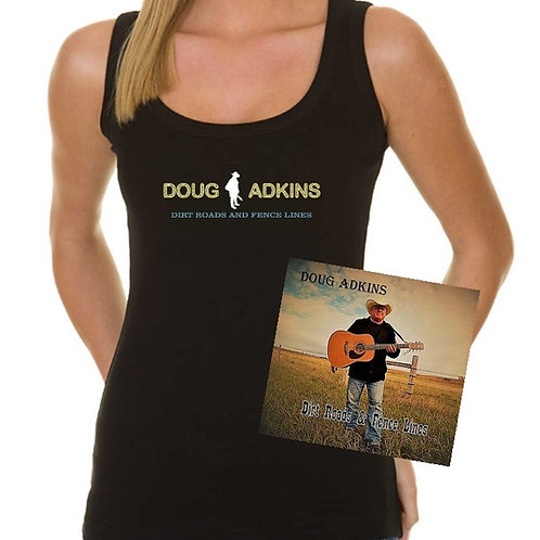 "CD and Tank Top ""Dirt Roads And Fence Lines"""