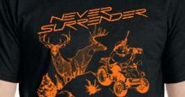 Humorous Elk Hunting, Deer Hunting, Pheasant and Duck Hunting by Never Surrender