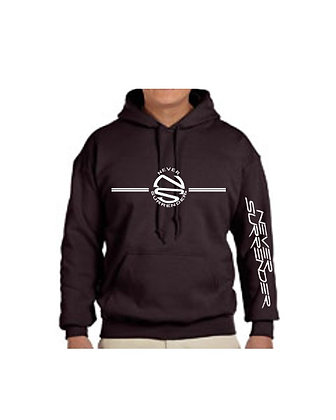 Hoodie Sweatshirt with Distressed  Logos