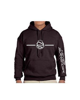 Hoodie Sweatshirt with Distressed  Logos