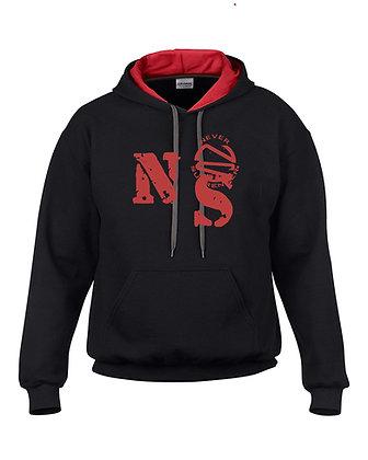 Hoodie Sweatshirt with Red Never Surrender  Logo
