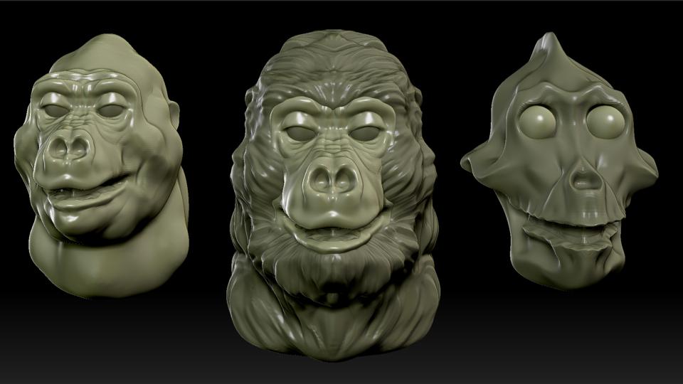 gorilla-head