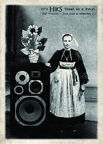 carte postale jeune fille au subwoofer.j