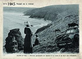 carte postale Petites gardeuses de vache