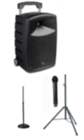 denon with mic stand speaker stand and mic copy.jpg