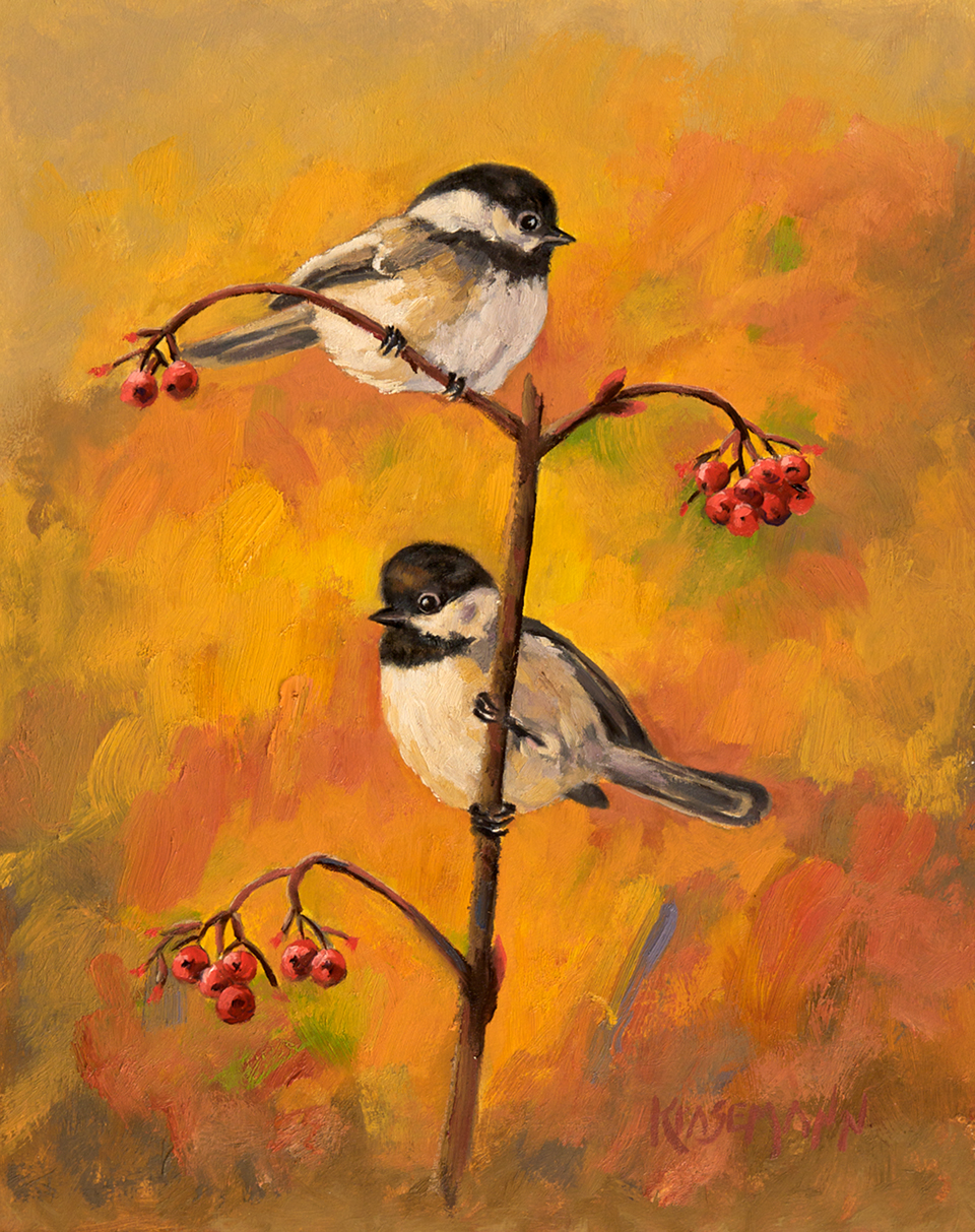 Autumn Chickadees