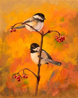 Autumn Chickadees