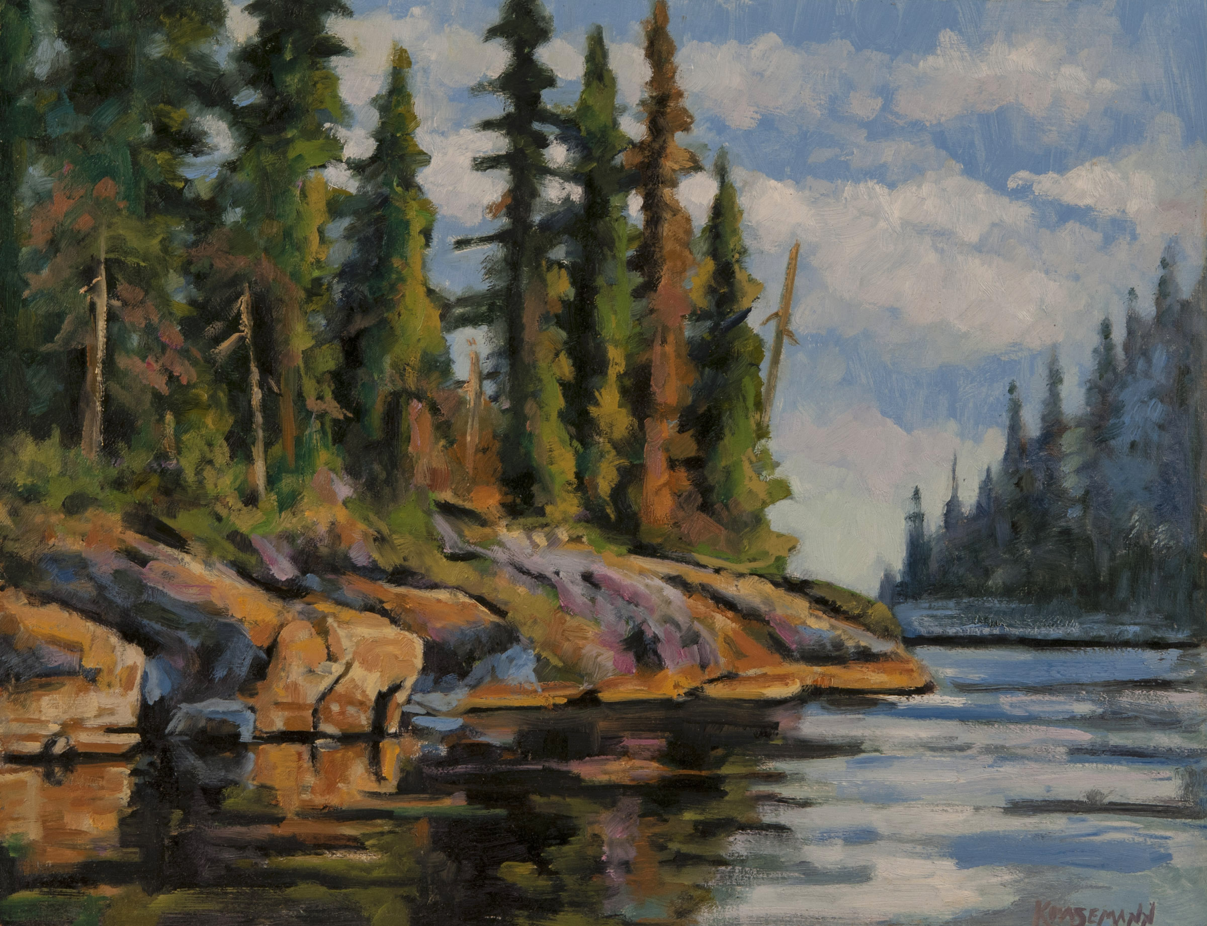 Canoe Country 11 x 14 Oil