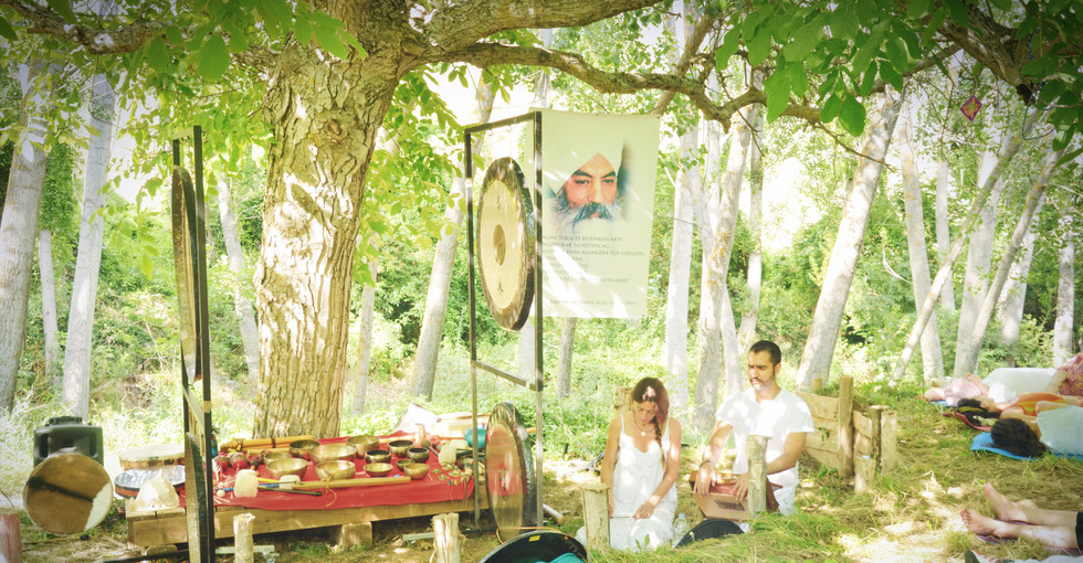 Fractal Gong Bath en Eco-Festival Novo 2016Mundo