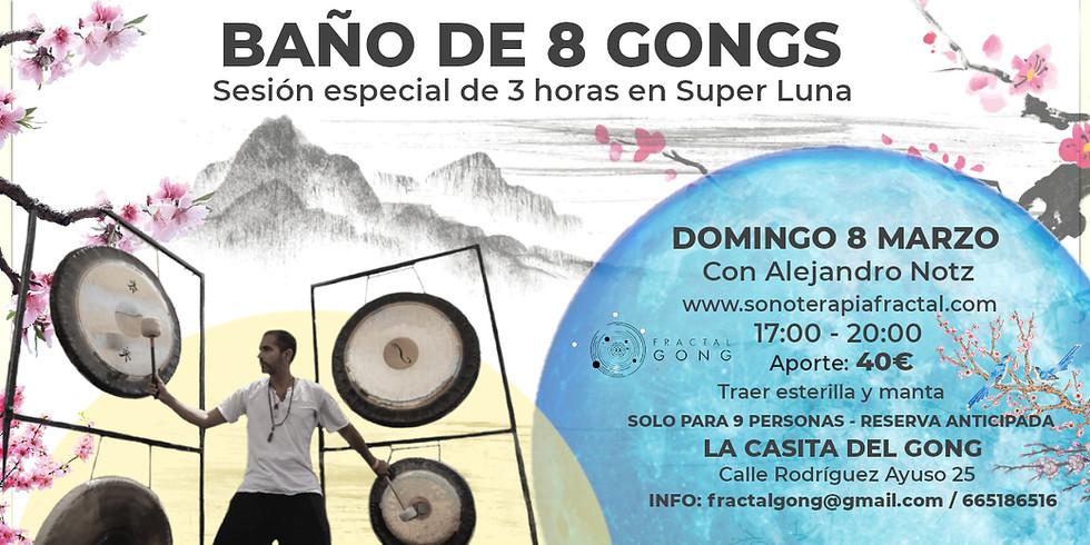 Baño de 8 Gongs - Sesión de 3 horas en Super Luna
