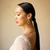 Profile shot of the bride
