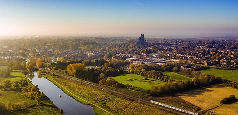 Dronetec takes beautiful aerial view of Ely, Cambridgeshire