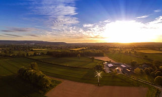 Aerial images can be used to promote windfarms likle this one taken in Herefordshire