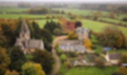 Aerial picture used to sell property in Oxford