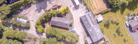 High quality aerial image overlooking a farm surveyed by dronetec