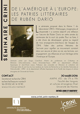 Affiche séminaire Ruben Dario 2016 1.jp