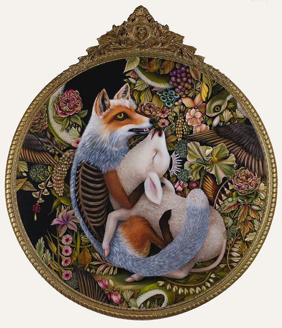surrender jennybirdalcantara fox lamb neosurrealism surrealism gardenofeden