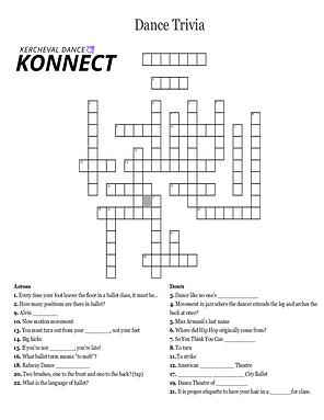 Dance Trivia crossword puzzle.png