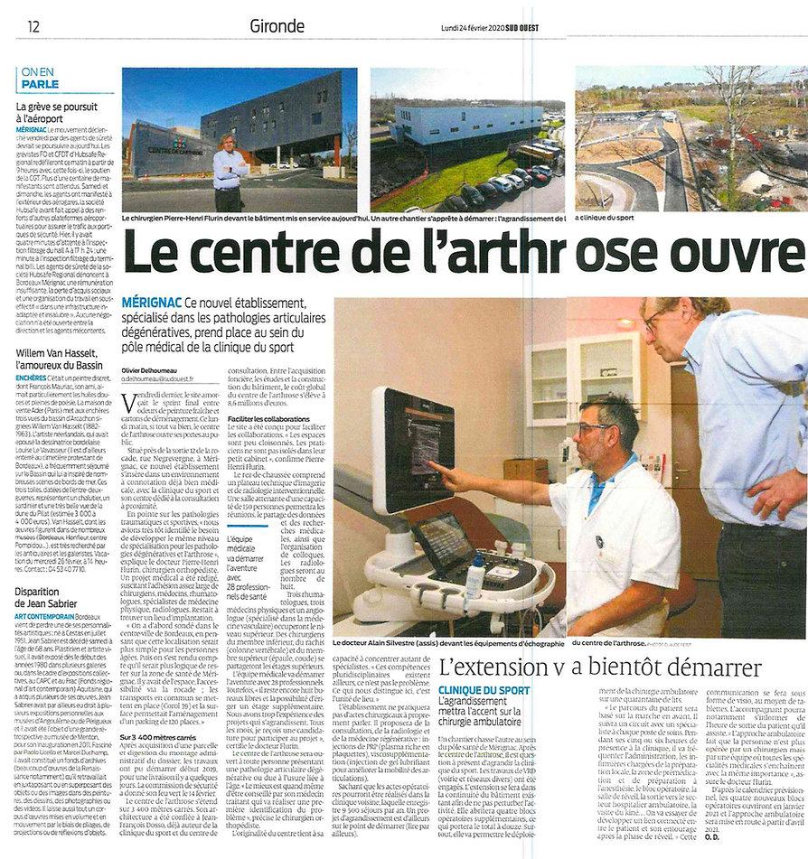 Centre Arthrose et Clinique du Sport Art