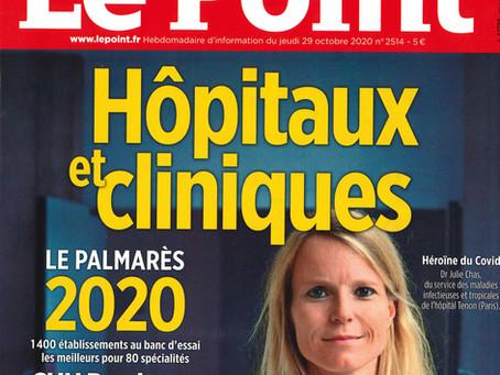 """09/11/2020 Pamarès """"Le Point"""" des hôpitaux et cliniques"""