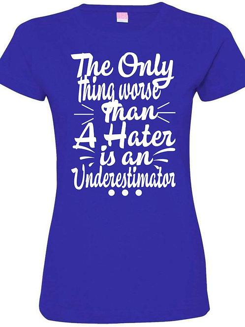 Zeta Phi Beta: Never Underestimate Me! Blue