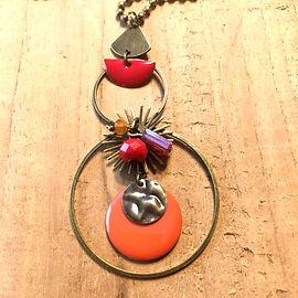 Sautoir Circle orange 2