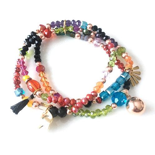 Trio Bracelets Multicolore