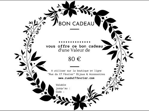 Bon Cadeau 80€