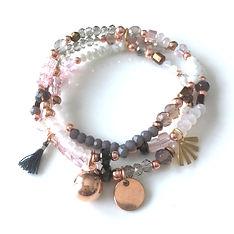 Trio Bracelets Blanc Nacré_Rose Clair_Gr