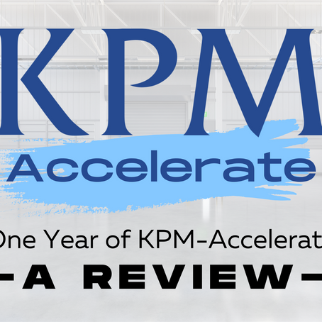 A Year in Review: KPM-Accelerate