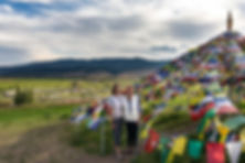 Prayer flags. Midge and Daphyne.jpg