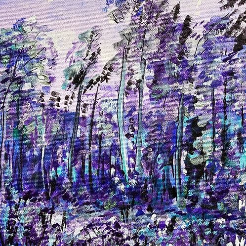 In the Bluebells, Small Canvas