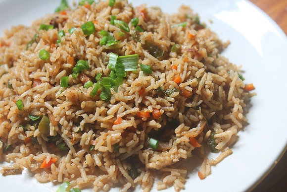 Jamaican Seasoned Veggie Fry Rice