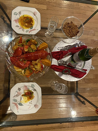 Jerk Large Lobster & Scallop Dinner