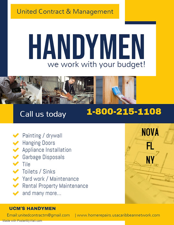 ucm Handyman Professional Services Flyer
