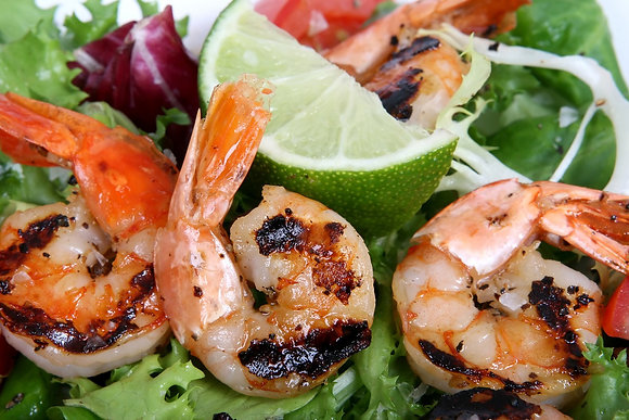Jerk Shrimp In Pineapple or Mango Habanero Tray