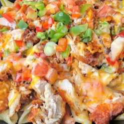 Fried chicken rasta pasta