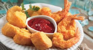 Fried Scallops and Shrimps