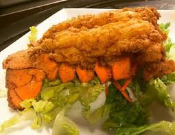 Fried Lobster Tail with Veggies