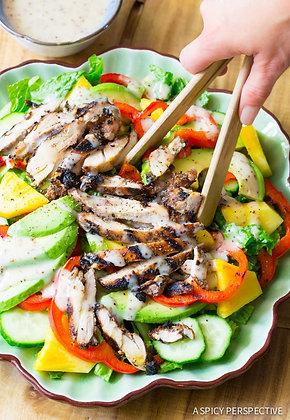 Jamaican Jerk Chicken Salad Tray