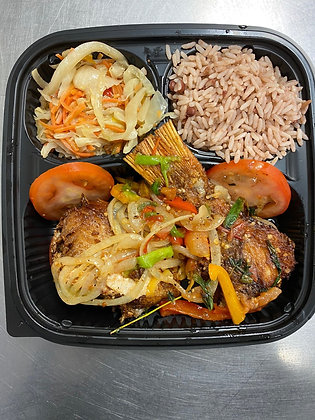 Jamaican Fried Snapper Tray