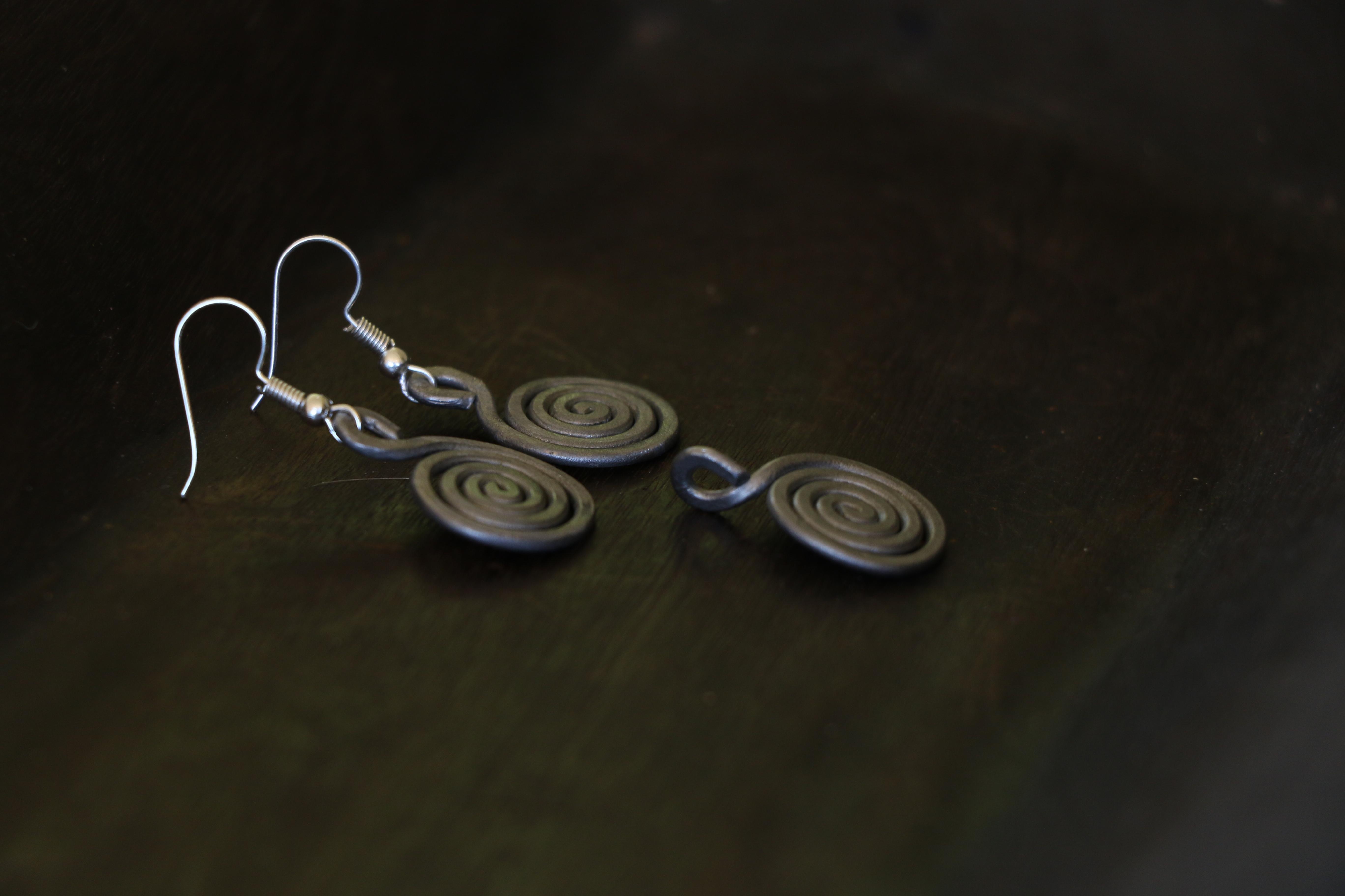Spiral Pendant & earring combo
