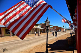 Flags Over Tombstone