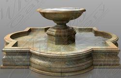 Одноуровневый гранитный фонтан