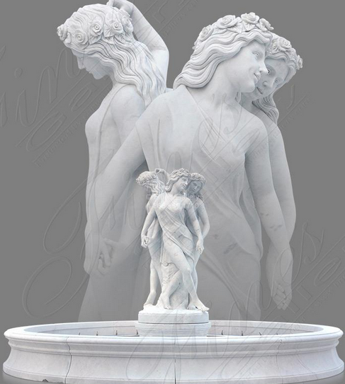 Мраморный скульптурный фонтан «ВЕЛИЧЕСТВЕННЫЕ КРАСОТКИ»