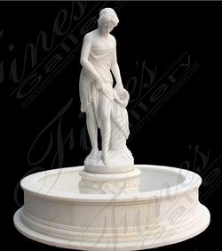Мраморный фонтан «Купальщица»