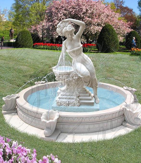 Мраморный скульптурный фонтан «МЕЧТАЮЩАЯ ВЕНЕРА»